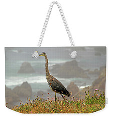 Weekender Tote Bag featuring the photograph Great Blue Along The P C H by Donna Kennedy