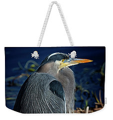 Weekender Tote Bag featuring the photograph Great Blue Heron 2 by Randy Hall