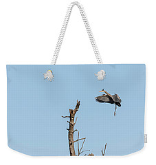 Great Blue Heron 2017-3 Weekender Tote Bag by Thomas Young