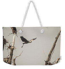 Weekender Tote Bag featuring the photograph Great Blue Heron - 6 by David Bearden