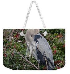 Great Blue Heron And Nestling Weekender Tote Bag