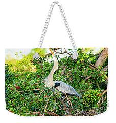 Great Blue Heron At Rookery Weekender Tote Bag