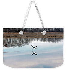 Great Blue Heron At Take-off Weekender Tote Bag