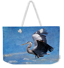 Great Blue Heron  Weekender Tote Bag by Betty LaRue