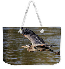 Great Blue Heron In Stratford Weekender Tote Bag