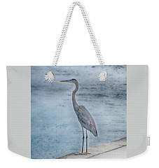 Weekender Tote Bag featuring the photograph Great Blue Heron by Judy Hall-Folde