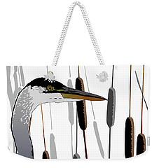 Great Blue Heron - Light Background Weekender Tote Bag