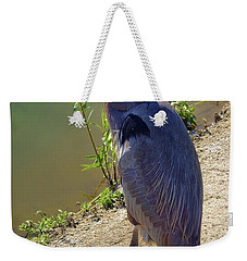 Weekender Tote Bag featuring the photograph Great Blue Heron by Mariola Bitner