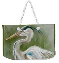 Great Blue Heron Weekender Tote Bag by MM Anderson