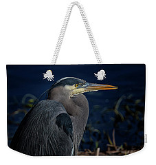 Weekender Tote Bag featuring the photograph Great Blue Heron by Randy Hall