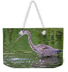 Great Blue Heron - The One That Got Away Weekender Tote Bag