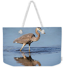 Great Blue Heron With A Small Meal Weekender Tote Bag
