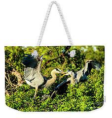 Great Blue Herons Battle Weekender Tote Bag
