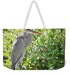 Great Blue Posing Weekender Tote Bag