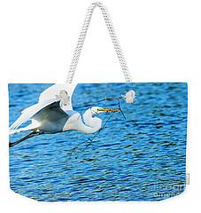 Great Egret Building Nest  Weekender Tote Bag