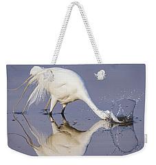 Great Egret Dipping For Food Weekender Tote Bag