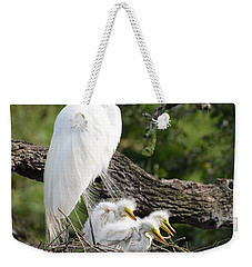Great Egret Family  Weekender Tote Bag