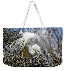 Weekender Tote Bag featuring the photograph Great Egret by Gregg Southard