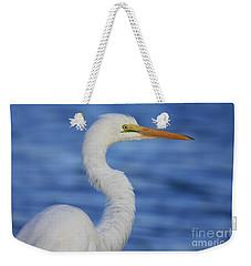 Great Egret In Blue Weekender Tote Bag