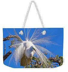 Great Egret In Breeding Plumage Weekender Tote Bag