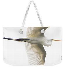 Great Egret In Flight Weekender Tote Bag