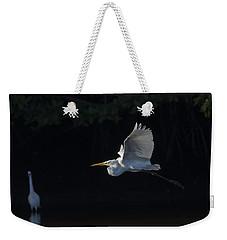 Great Egret In Morning Flight Weekender Tote Bag