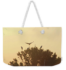 Great Egret Joining Friends Weekender Tote Bag