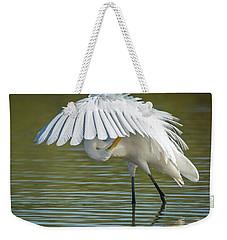 Great Egret Preening 8821-102317-2 Weekender Tote Bag
