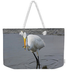 Great Egret Strike Weekender Tote Bag