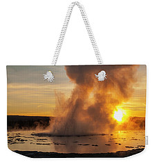 Great Fountain Geyser Sunset - Yellowstone National Park Weekender Tote Bag