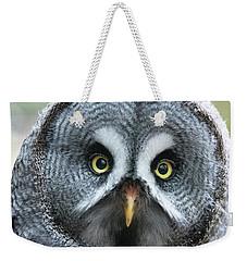 Great Grey Owl Closeup Weekender Tote Bag