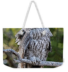 Great Grey Owl Yellowstone Weekender Tote Bag