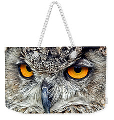Great Horned Owl Closeup Weekender Tote Bag