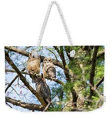 Great Horned Owl Family Weekender Tote Bag