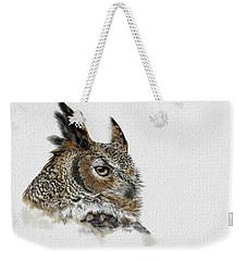 Great Horned Owl Weekender Tote Bag by Kathie Miller