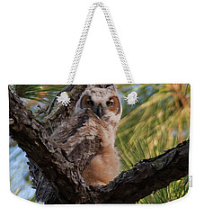 Great Horned Owlet Weekender Tote Bag
