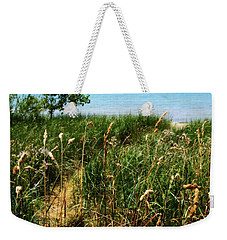 Weekender Tote Bag featuring the photograph Great Lake Beach Path by Michelle Calkins