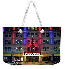 Weekender Tote Bag featuring the photograph Great Lakes Theatre by Frozen in Time Fine Art Photography