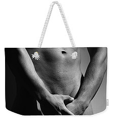 Great Nude Male Body Weekender Tote Bag