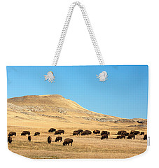 Great Plains Buffalo Weekender Tote Bag by Todd Klassy