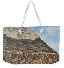 Weekender Tote Bag featuring the photograph Great Pyramid Of Giza by Silvia Bruno