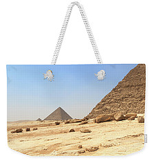 Weekender Tote Bag featuring the photograph Great Pyramids Of Gizah by Silvia Bruno
