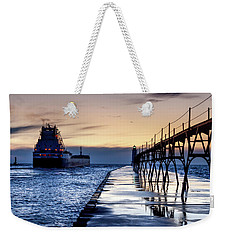 Great Republic Leaves Port Weekender Tote Bag
