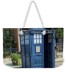 Great River Steampunk Festival Police Box Weekender Tote Bag