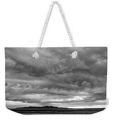 Great Salt Lake Clouds At Sunset - Black And White Weekender Tote Bag