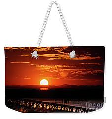 Great Salt Lake Sunset Weekender Tote Bag