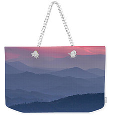 Great Smoky Mountain Sunset Weekender Tote Bag by Teri Virbickis