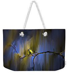 Weekender Tote Bag featuring the photograph Great Tit On Branch #h3 by Leif Sohlman