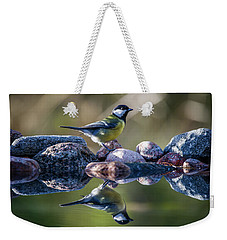 Great Tit On The Stone Weekender Tote Bag