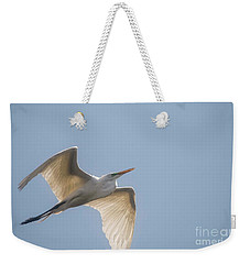 Weekender Tote Bag featuring the photograph Great White Egret - 2 by David Bearden